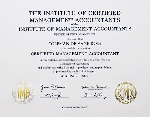 Coleman Ross Professional Designations Supplement